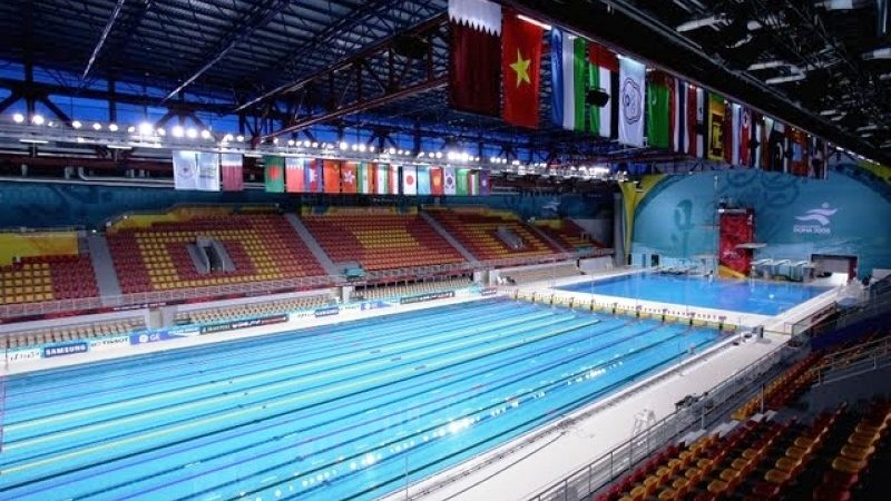 Hamad aquatic center aspire zone facilities for Al sadd sports club swimming pool
